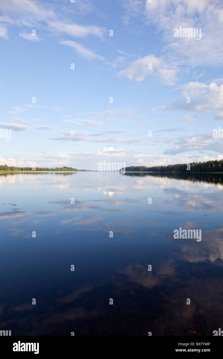 View of Lake Suontee Finland at Summer evening , Finland - Stock Image