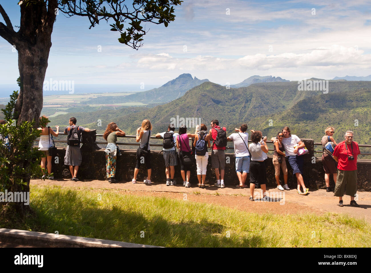 Black River Gorges National Park Viewpoint Mauritius - Stock Image
