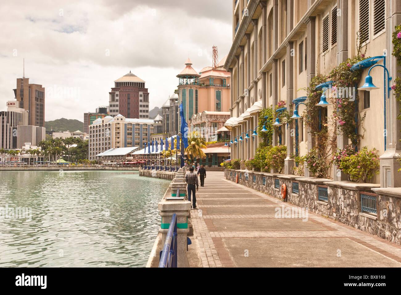 Harbourside Port Louis Mauritius - Stock Image