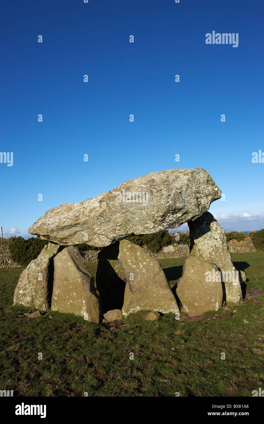 Carreg Samson, Neolithic Burial Chamber, Abercastle, Pembrokeshire, West Wales, UK Stock Photo