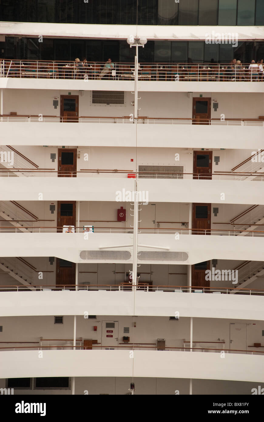 Stern view of m.v. Crystal Serenity - Stock Image