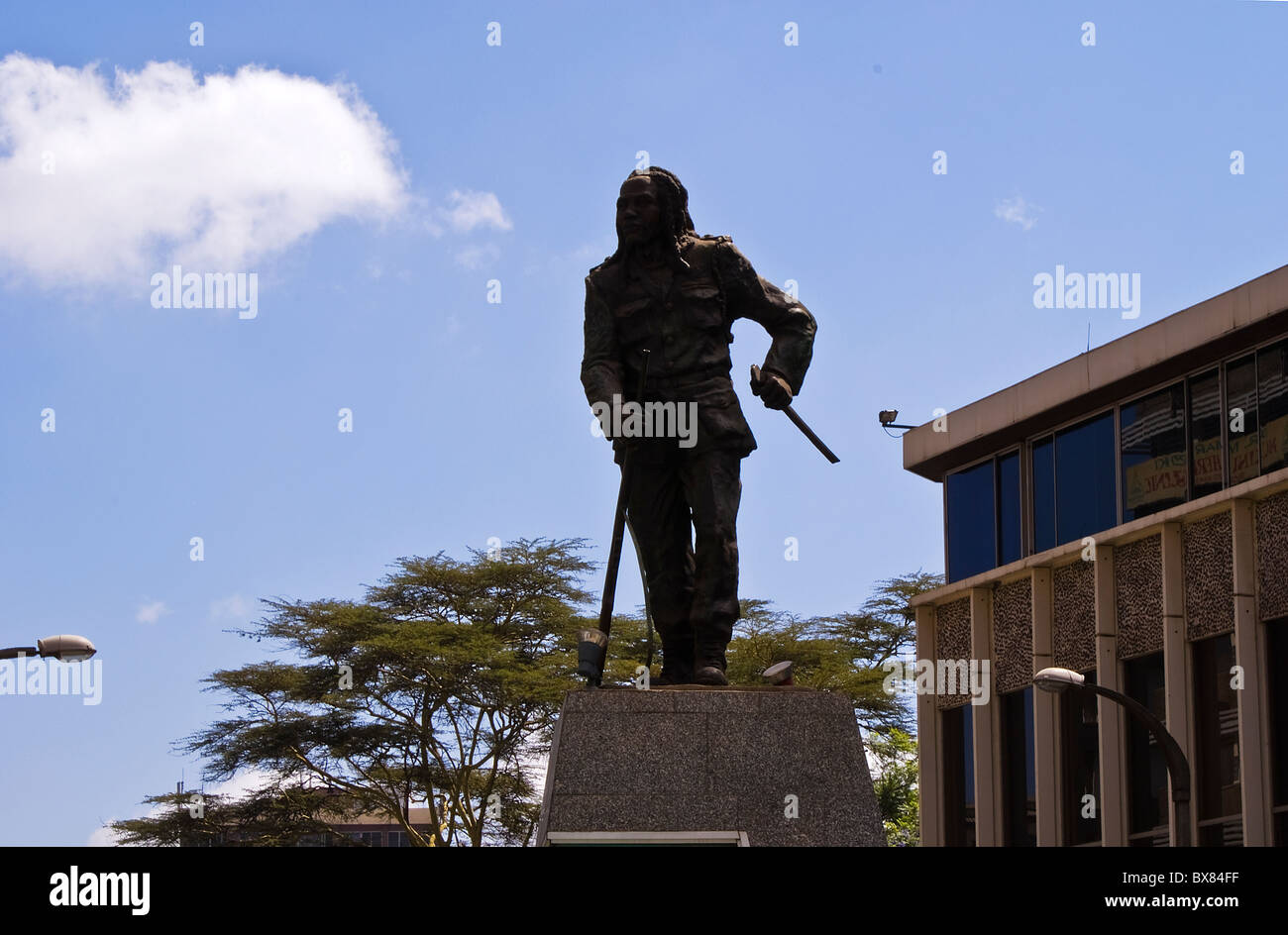 Statue of Dedan Kimathi - Stock Image