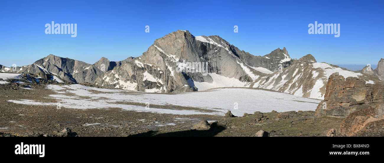 mountain panorama including Lizard Head Peak in the Wind River Range of Wyoming Stock Photo