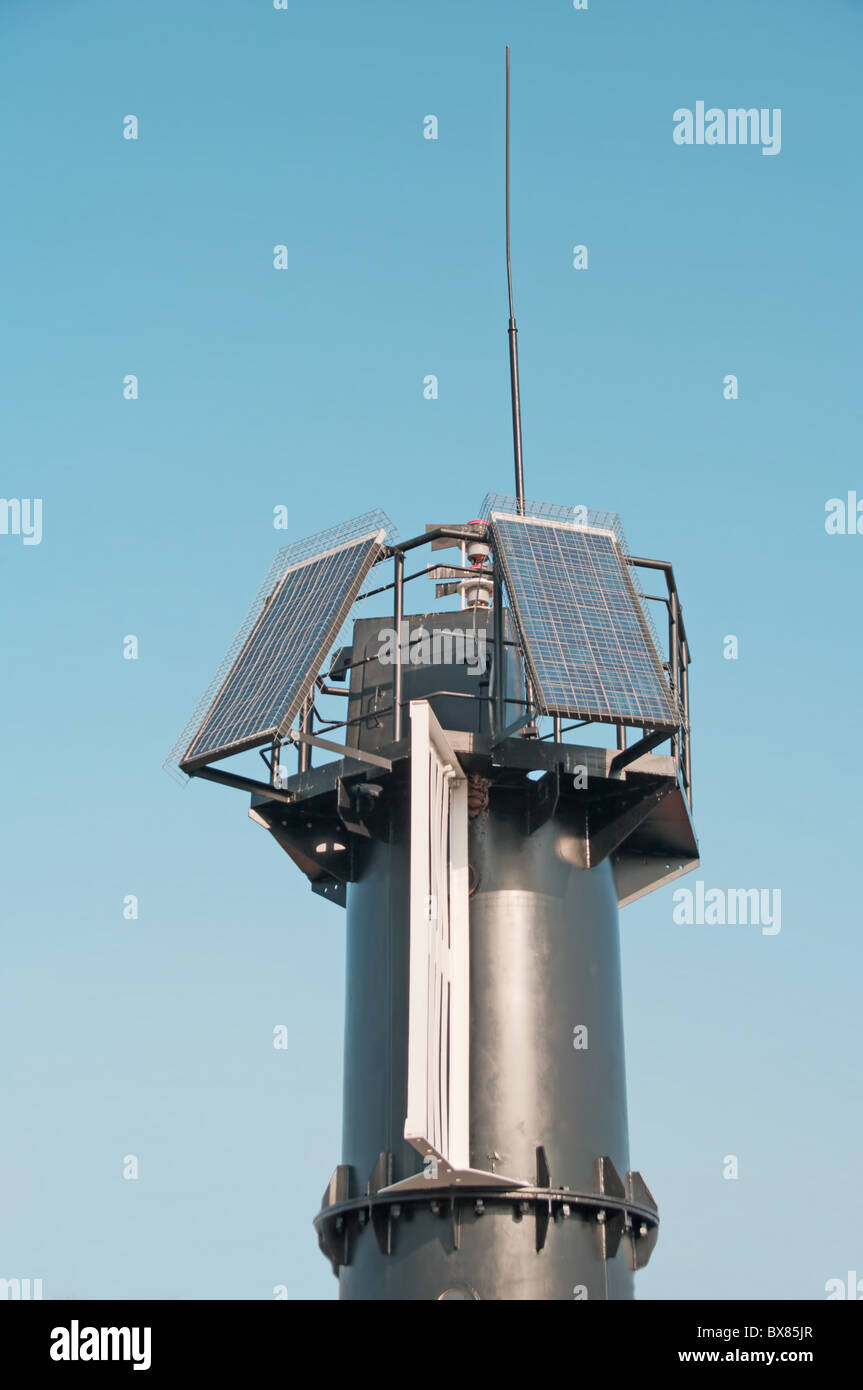 use of solar batteries in the industry a ship radio beacon on solar