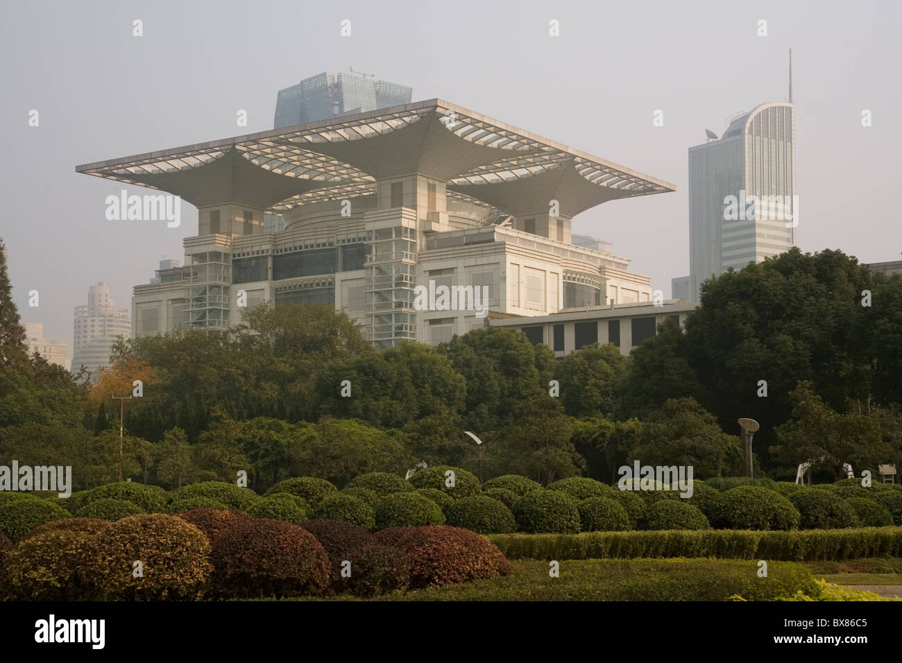 China Shanghai Renmin park & Urban Planning museum - Stock Image