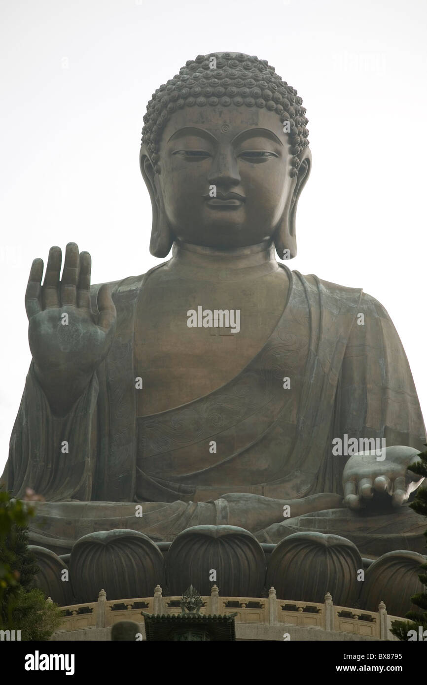 China Hong Kong Lantau Tian Tan Buddha - Stock Image