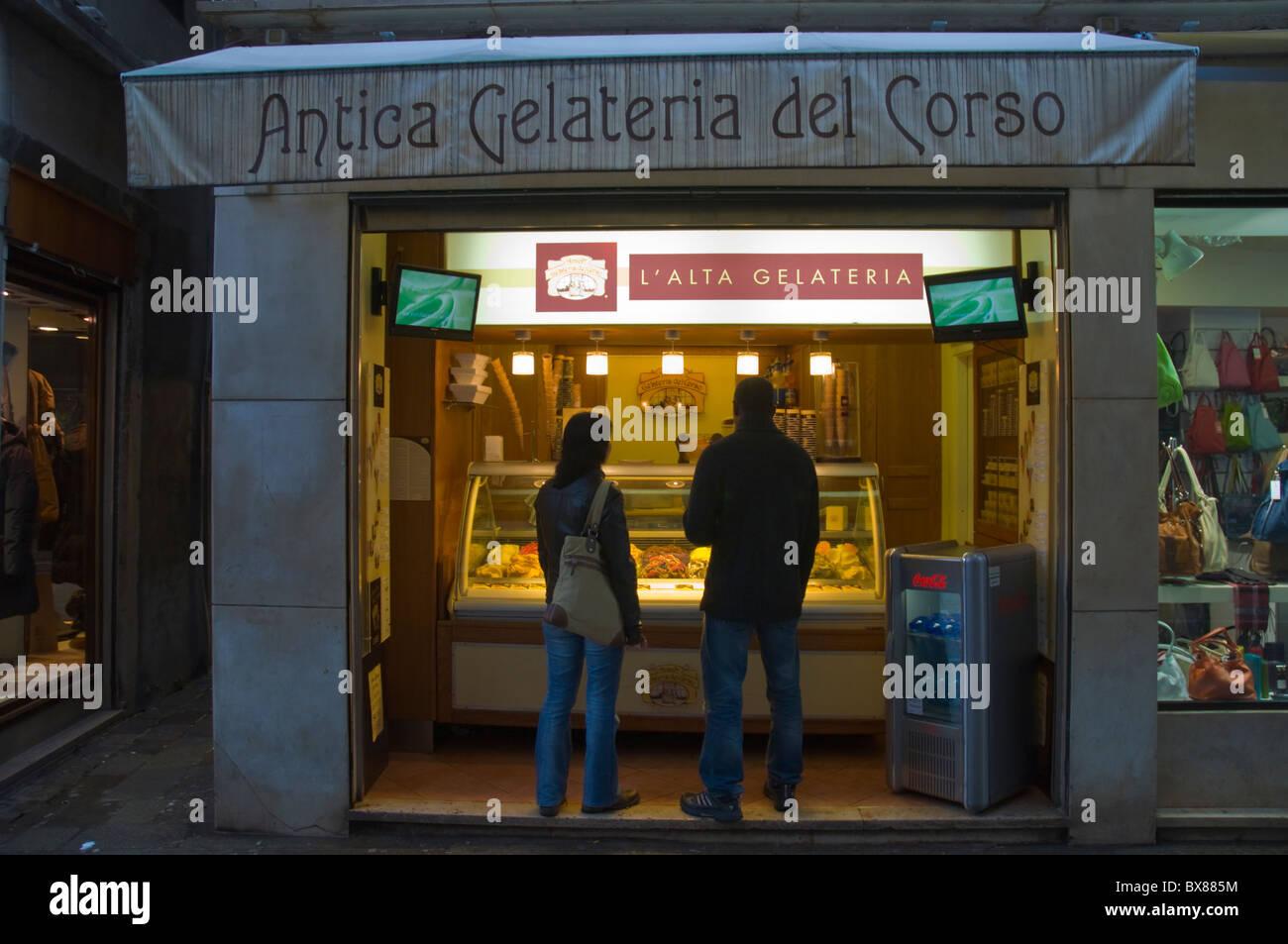 Gelateria (ice cream shop) San Marco district central Venice the ...