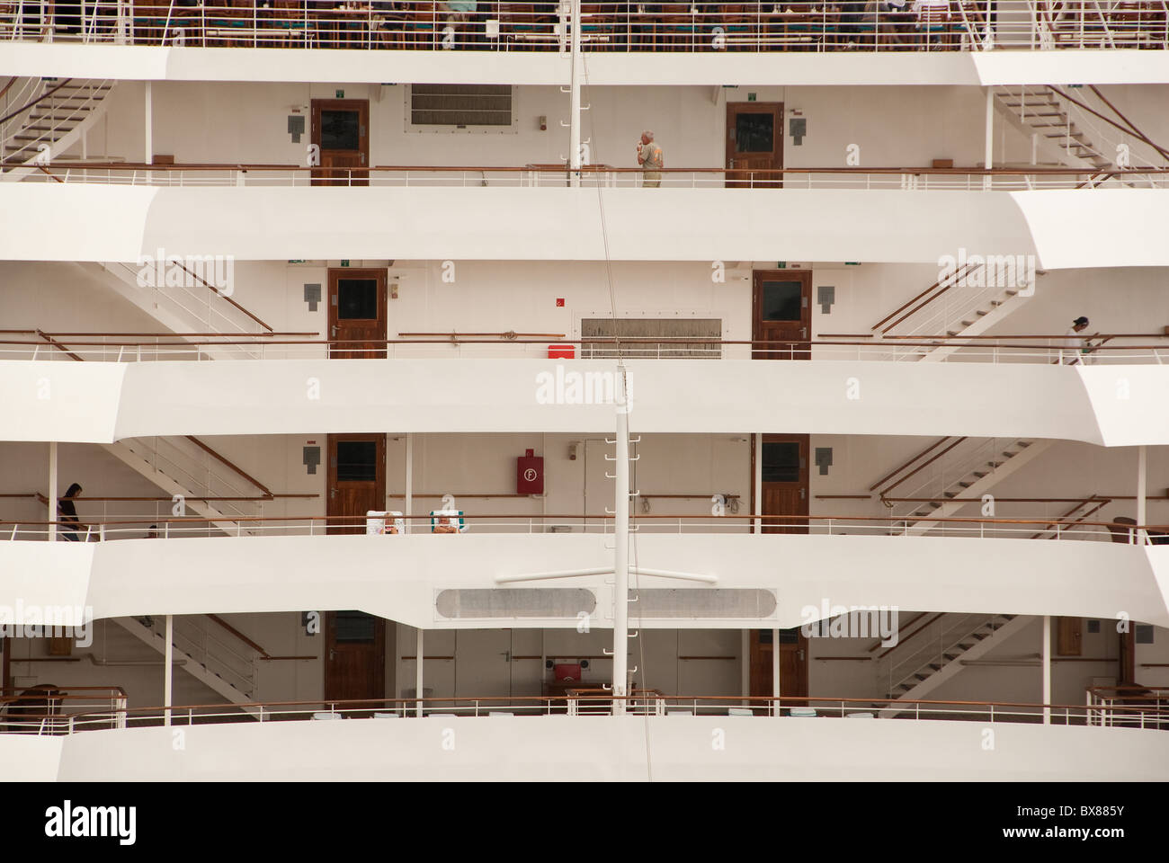 Stern view of Crystal Serenity Stock Photo