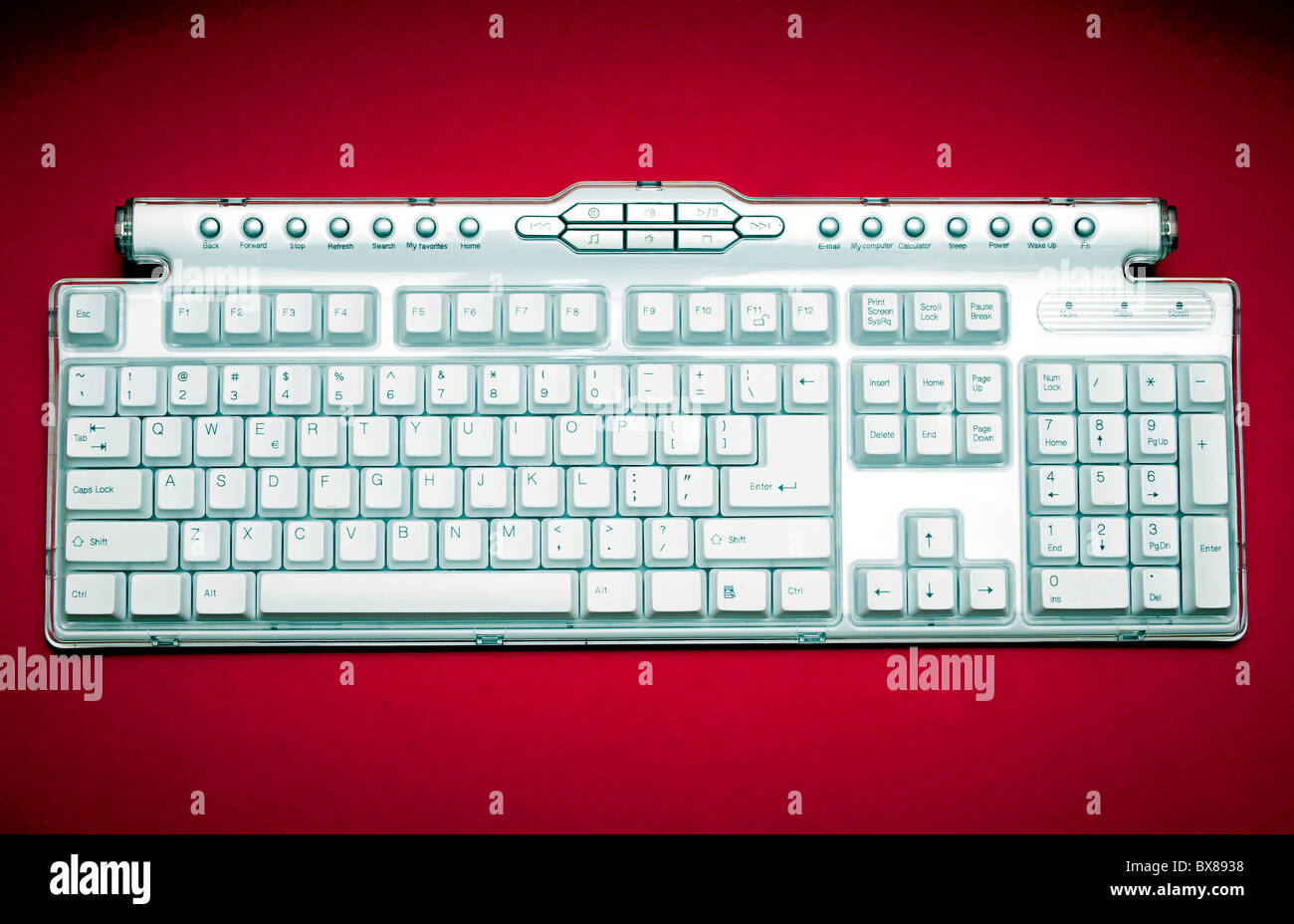 wireless computer keyboard - Stock Image