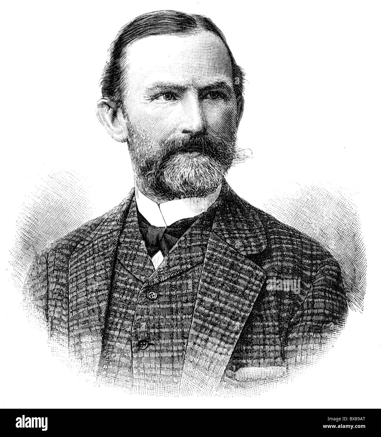Bokelmann, Christian Ludwig, 1844 - 15.4.1894, German painter, portrait, wood engraving, after a photo by Wilhelm Stock Photo