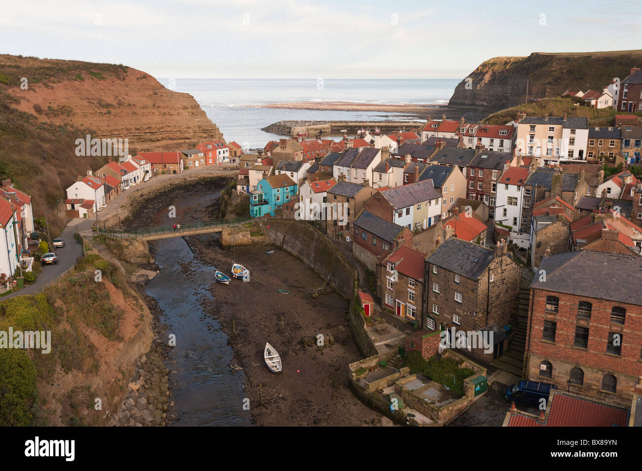 Staithes On The East Coast Of Yorkshire England Is A Great