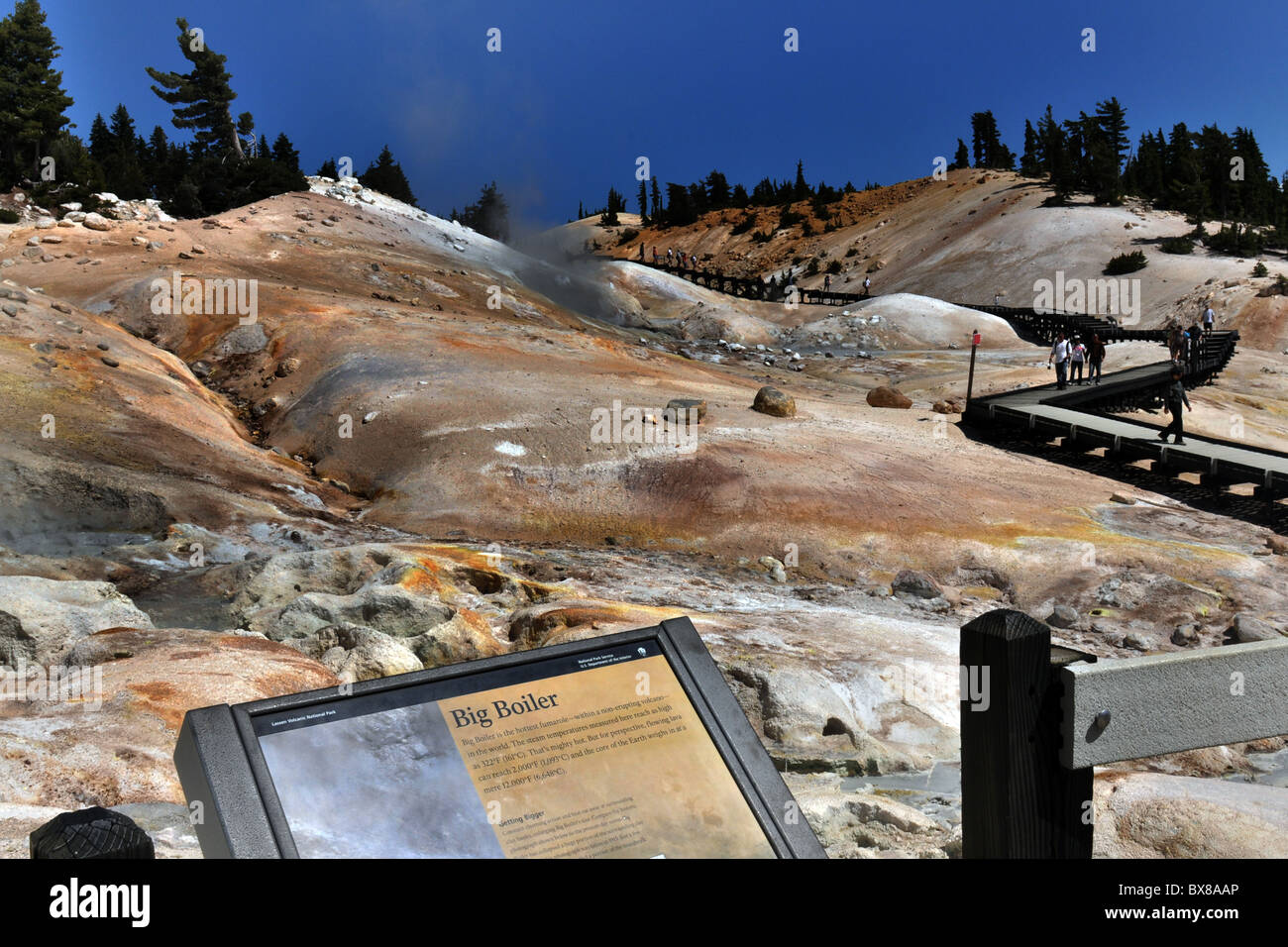 Big Boiler Lassen Volcanic  National Park, California USA - Stock Image