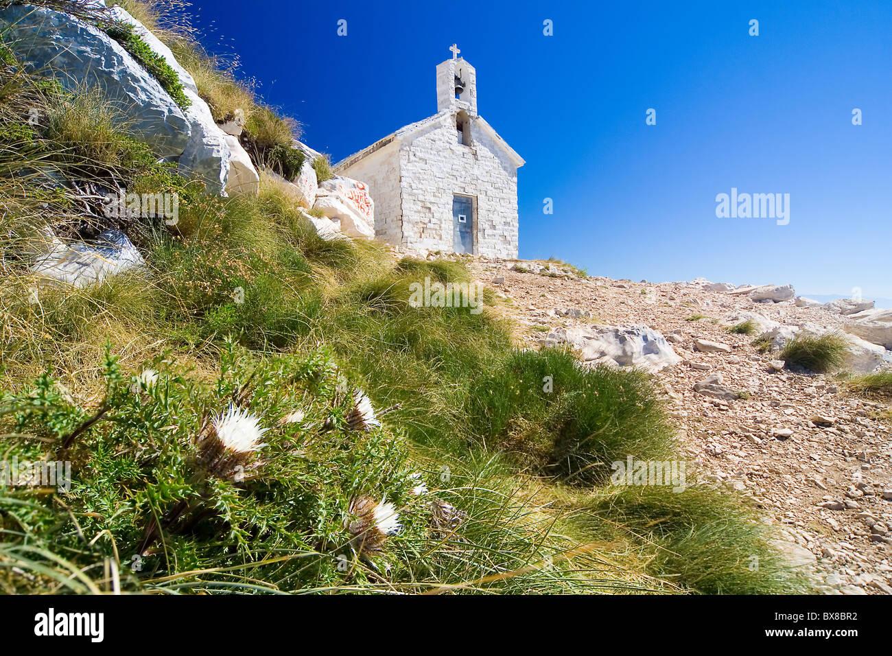 the church St. Jure - national park Biokovo (Croatia) - Stock Image