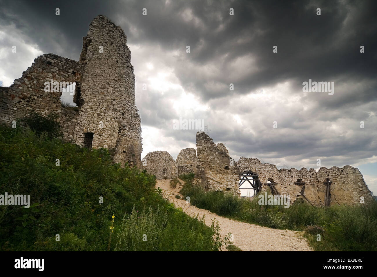 the ruins of castle Cachtice - Slovakia Stock Photo