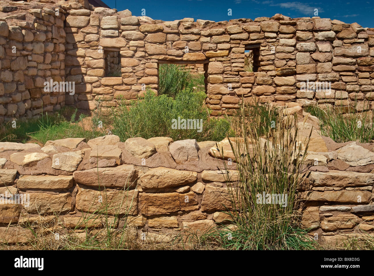 Lowry Pueblo, Anasazi ruins at Canyons of the Ancients National Monument, Colorado, USA - Stock Image
