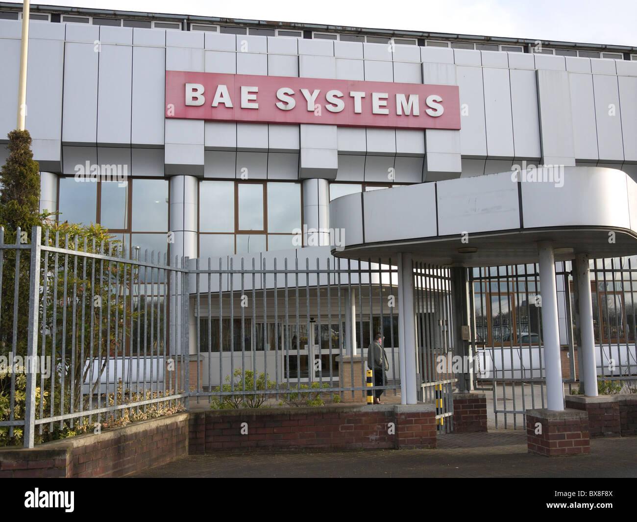 BAE Systems, Chadderton, Oldham, Lancashire, England, UK - Stock Image