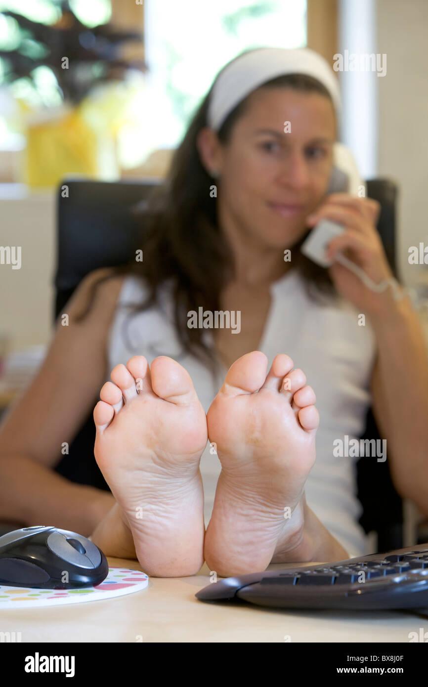 Woman bare feet