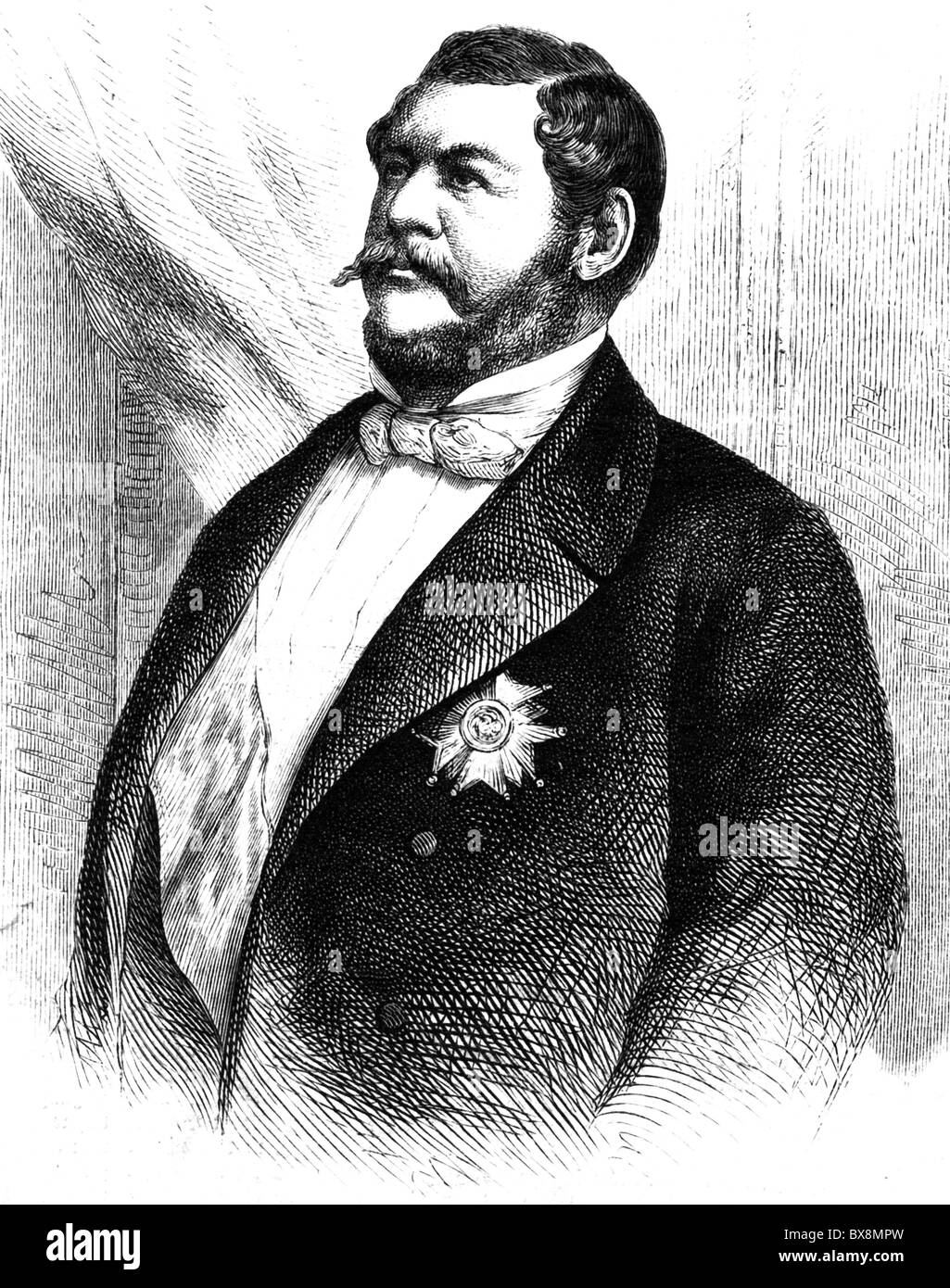Murat, Lucien, 16.5.1803 - 10.4.1878, French politician, half length, wood engraving after photo, 19th century, - Stock Image