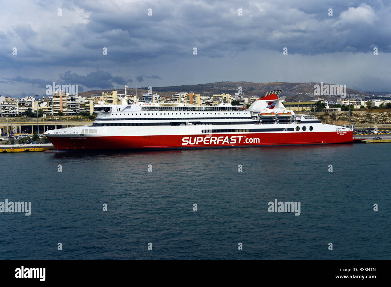 Superfast Ferries passenger car ferry Superfast XI in Piraeus harbour Greece Stock Photo