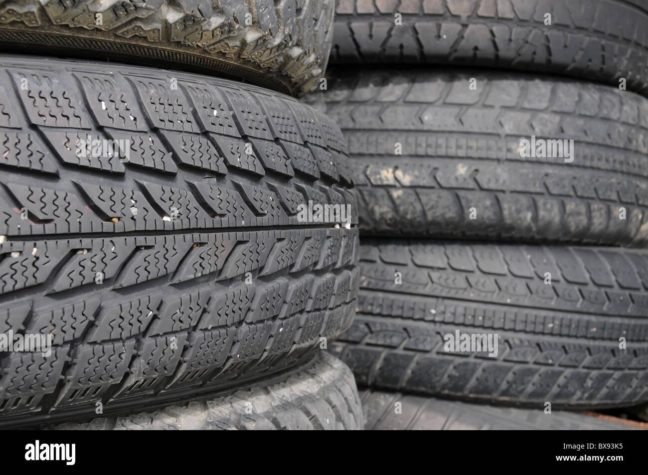 Scrap tire storage Stock Photo