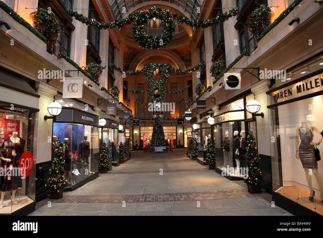 The Exchange shopping arcade in the Council House, Nottingham, England, U.K. - Stock Image