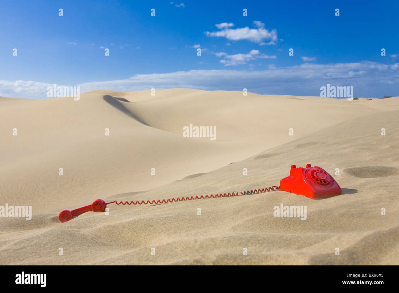 The Red Phone Must Be Answered - Stock Image