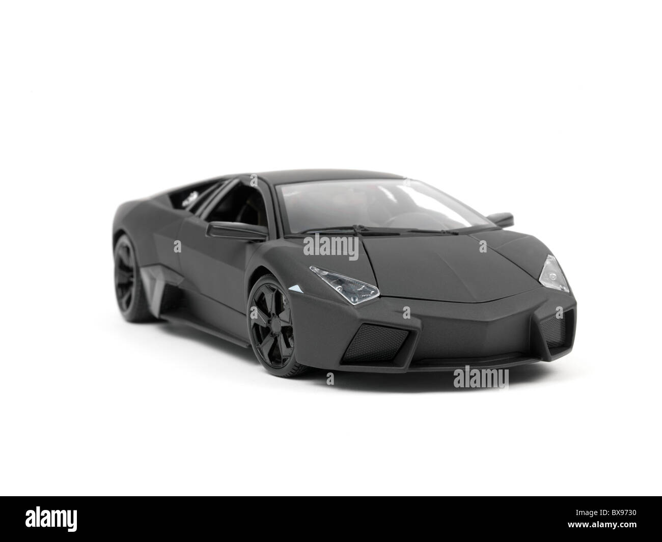 A Lamborghini Reventon Model Car Isolated Against A White Background