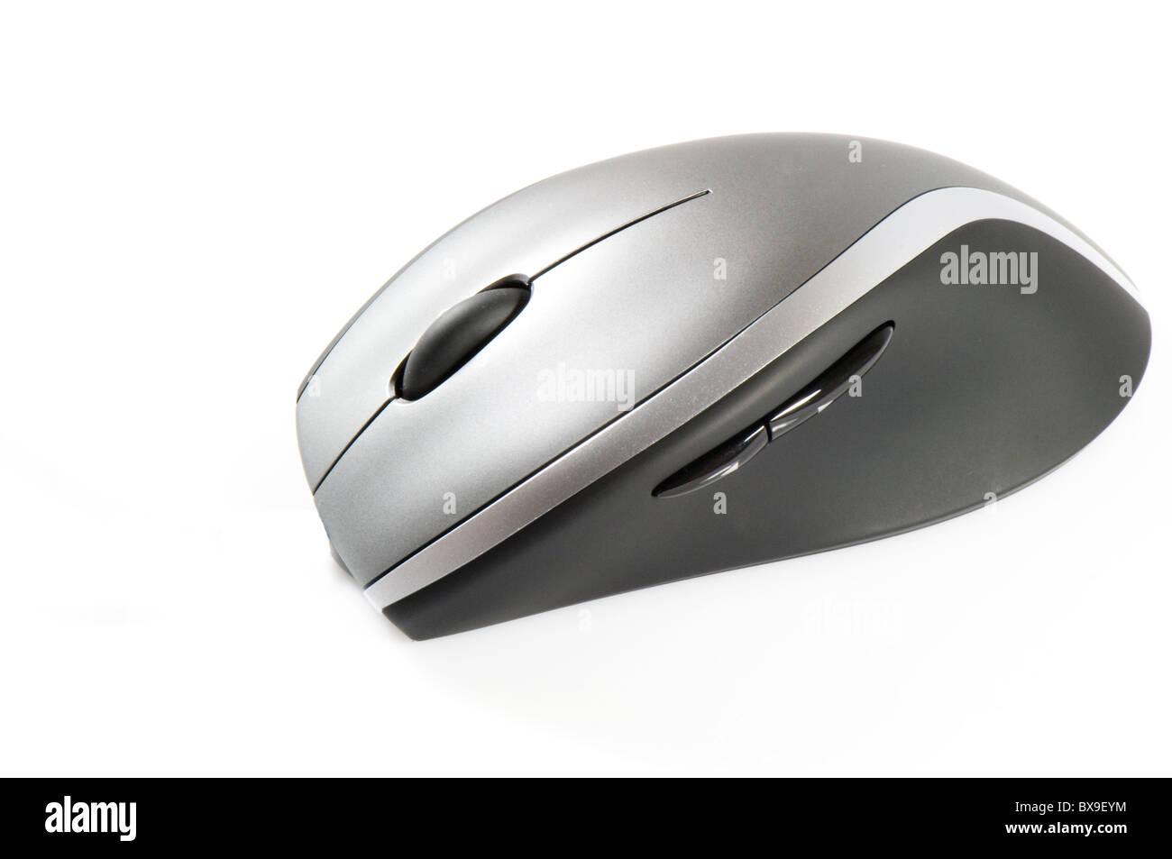 Computer mouse on white background - Stock Image