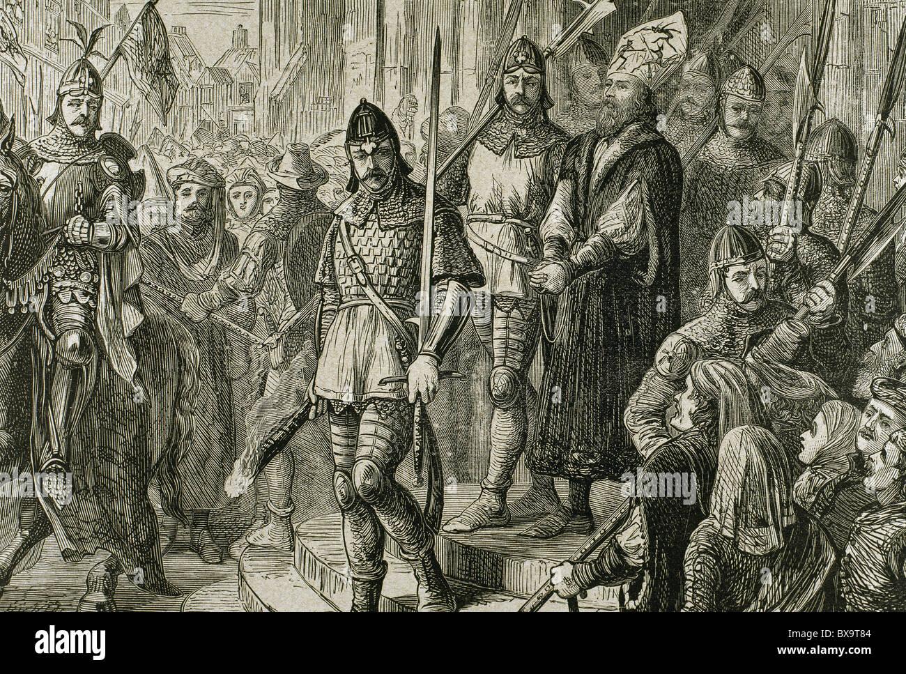 Jerome of Prague (1360-1416). Bohemian heretic. - Stock Image