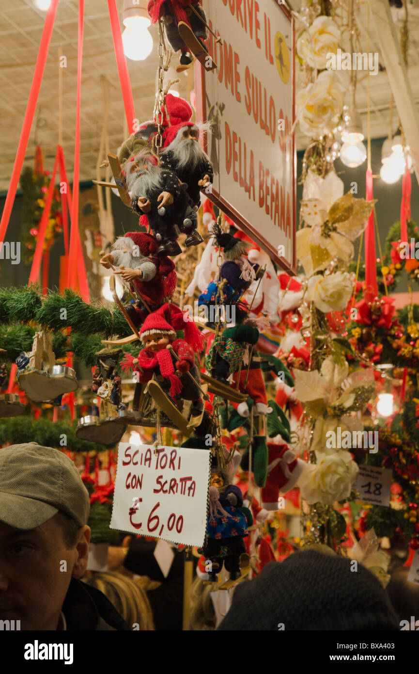 Decorations Sold At Piazza Navona Christmas Market In Rome
