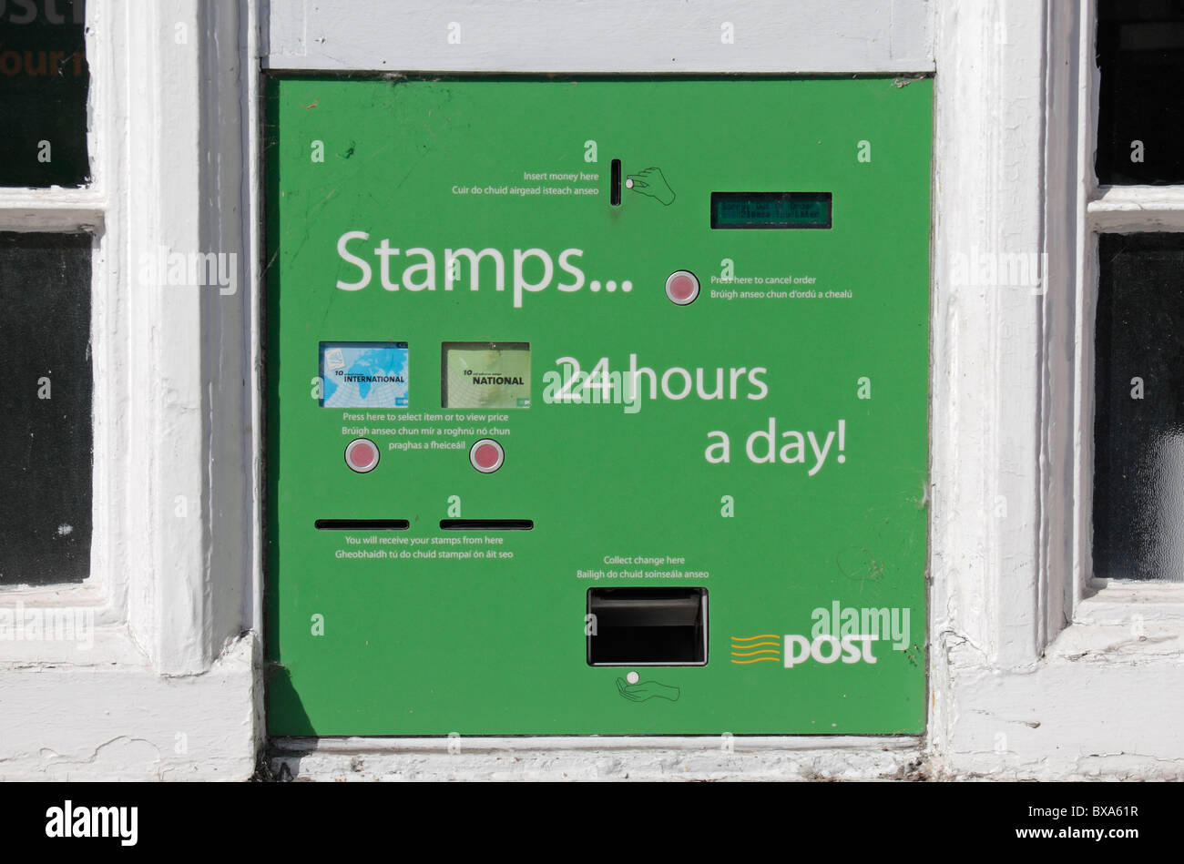 Stamp Machine Outside Post Office Stock Photos Stamp