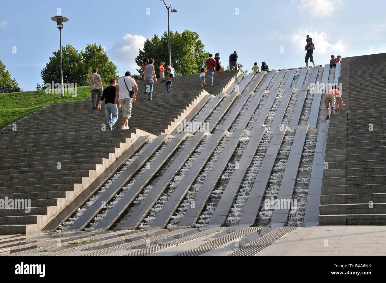 fountain Bercy park, Paris, France - Stock Image