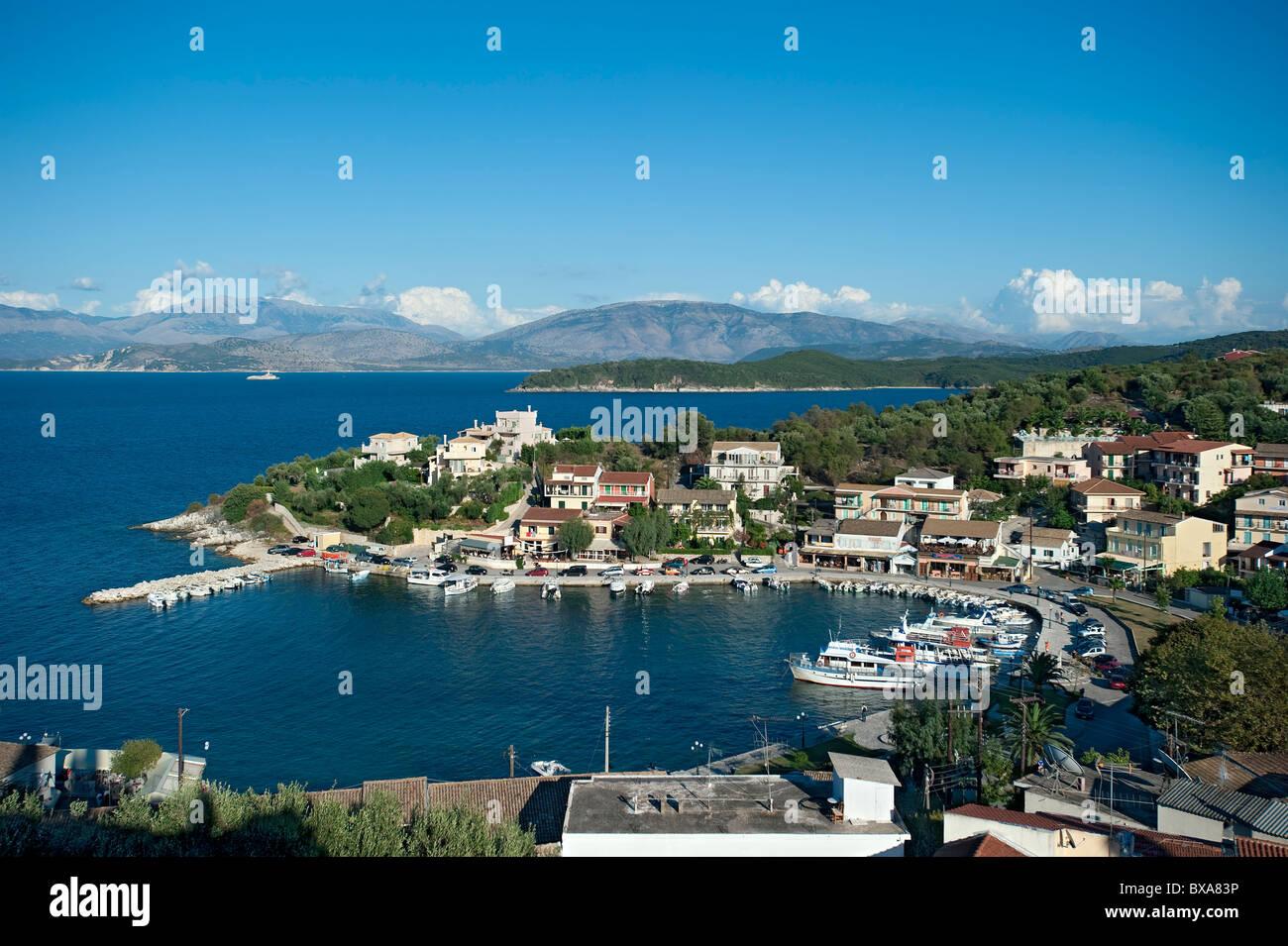 Kassiopi Harbour, Corfu, Greece - Stock Image