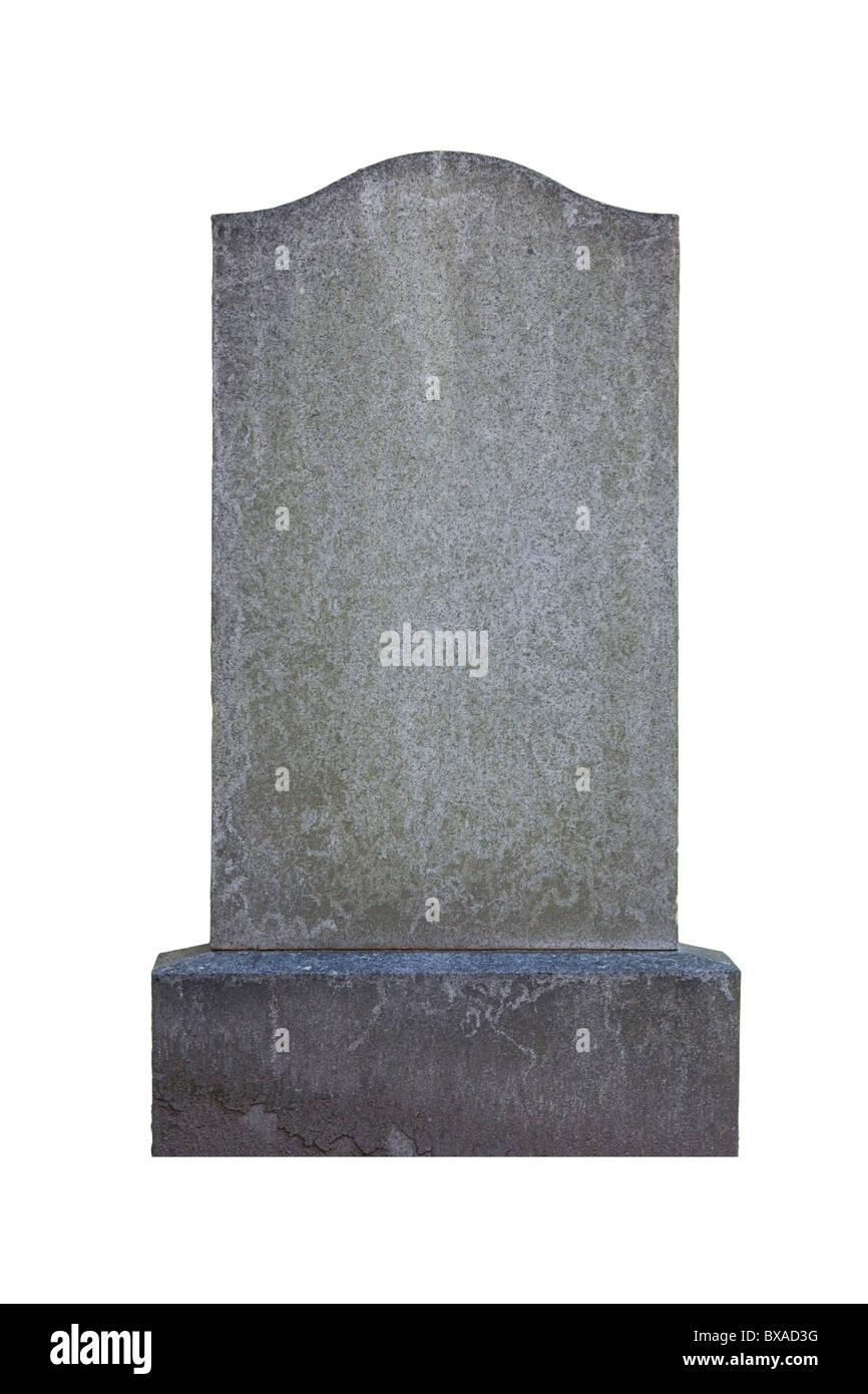 Blank gravestone - Stock Image