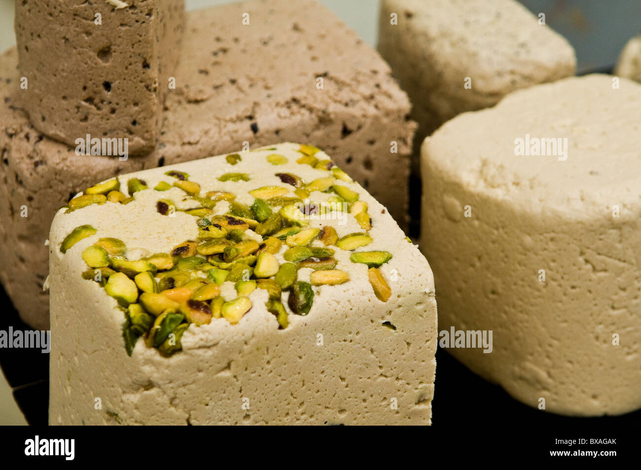 Halva is one of the most popular traditional sweets in the middle east. - Stock Image
