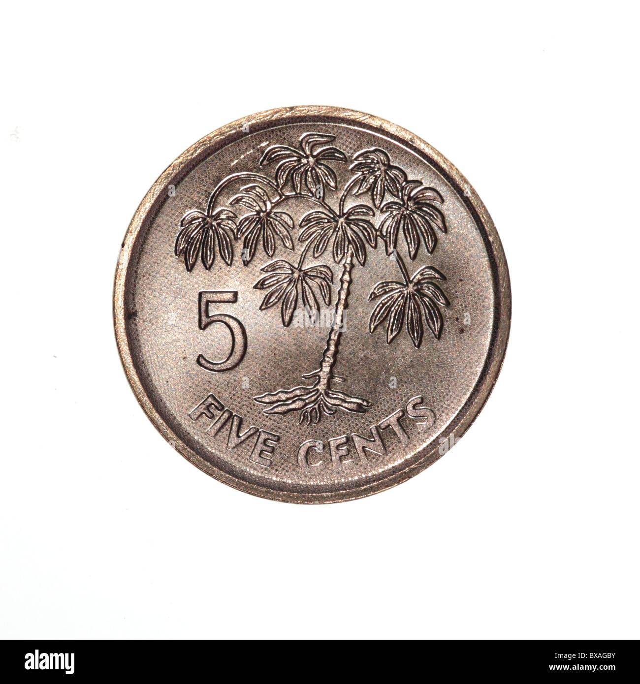 Seychelles coin - Stock Image
