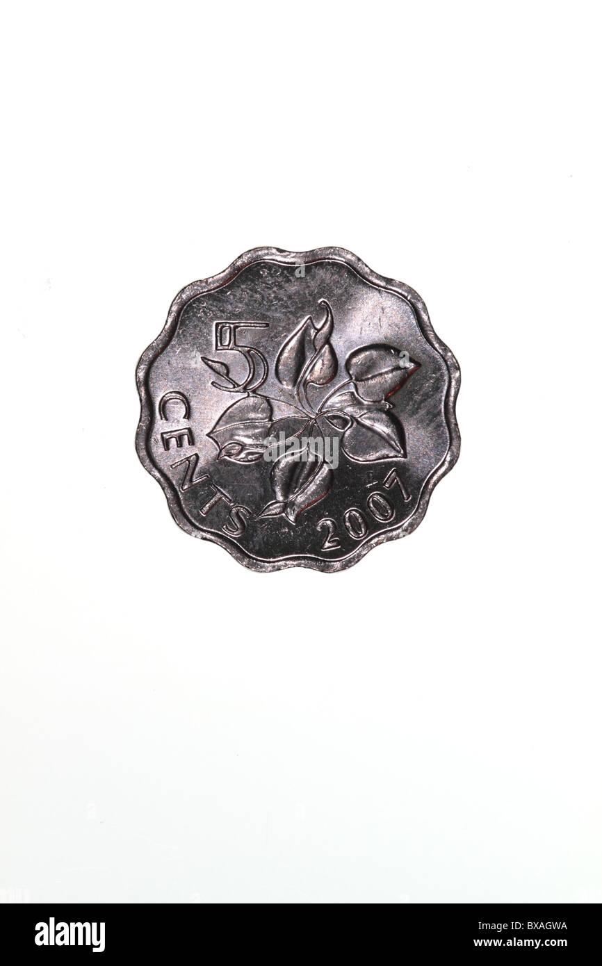 Swaziland coin Stock Photo