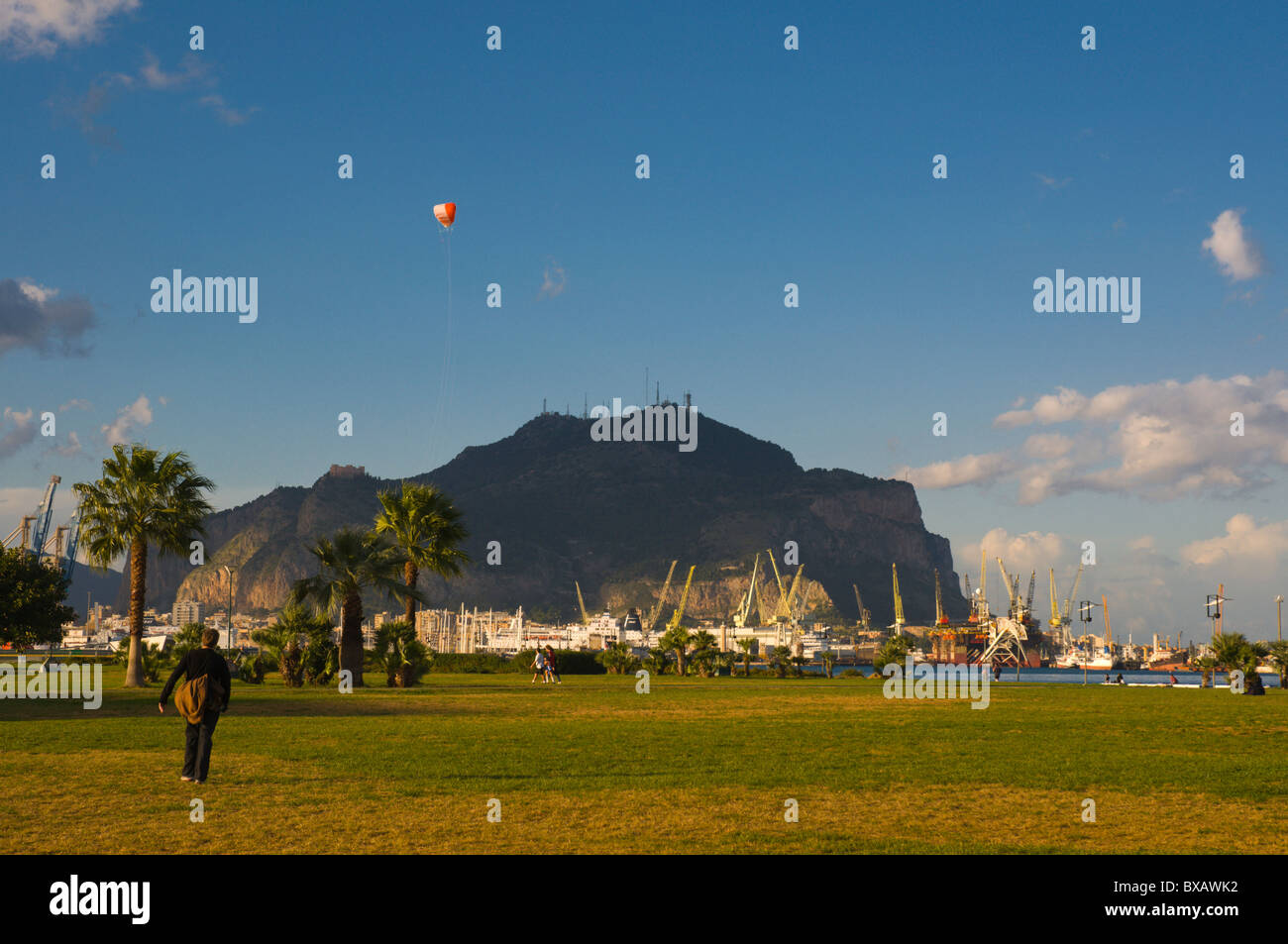 Terrazza a mare park by the sea Palermo Sicily Italy Europe Stock ...