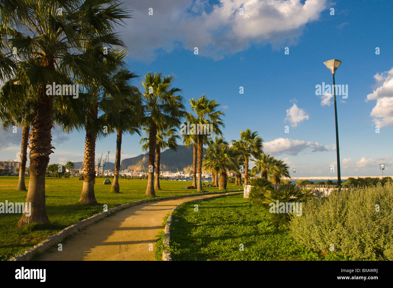 Terrazza a mare park by the sea Palermo Sicily Italy Europe Stock Photo