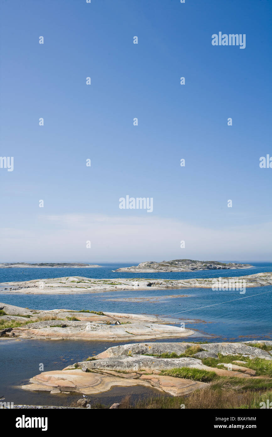 View of rocks by sea - Stock Image