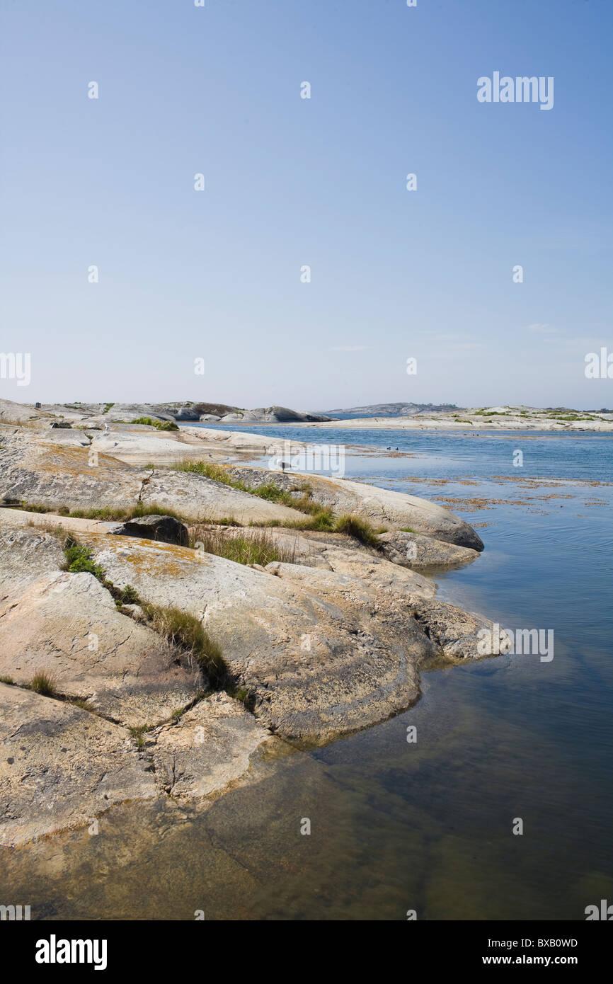 Rocks by sea - Stock Image