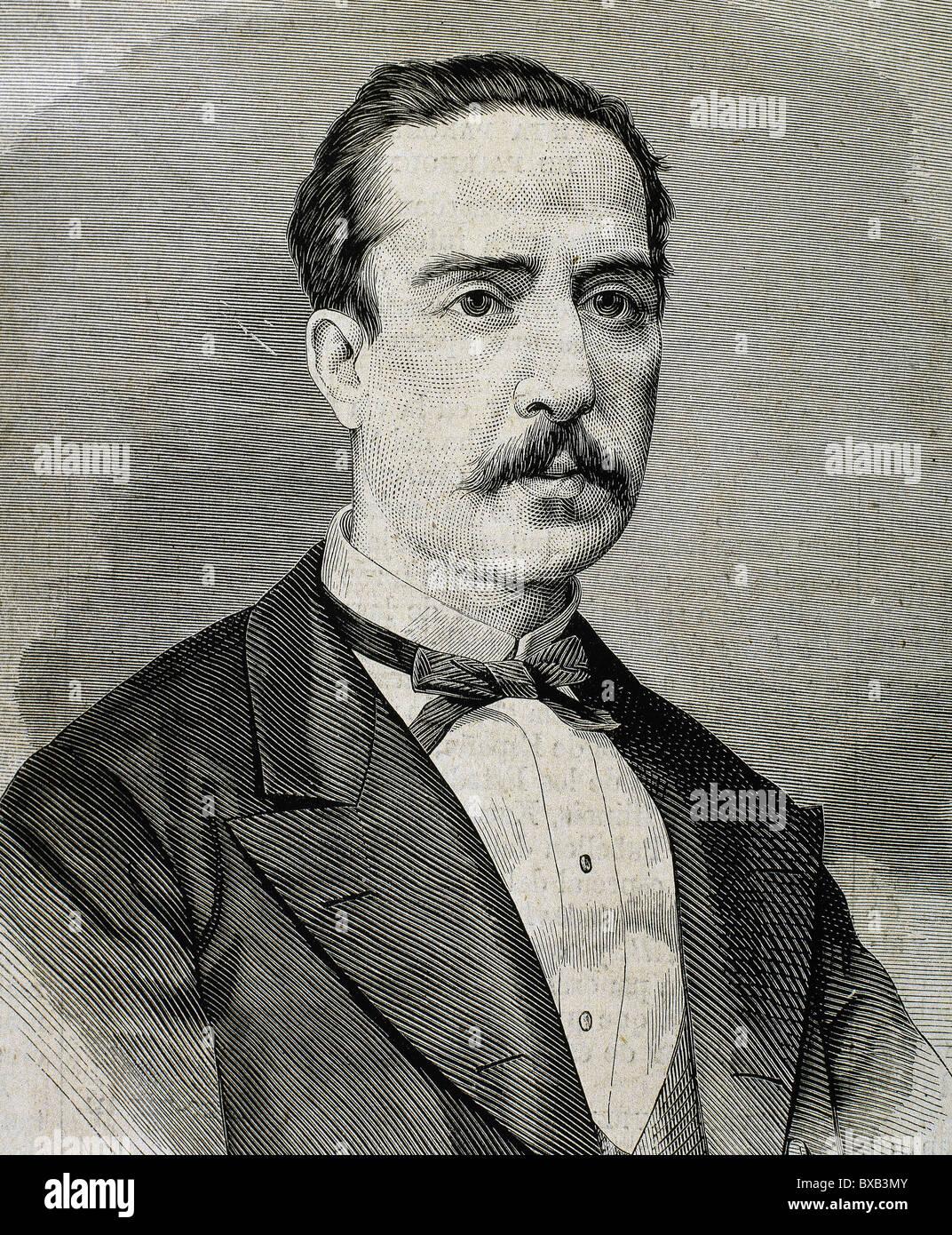 Julian Sanchez Calleja (1836-1913). Spanish scientist. - Stock Image