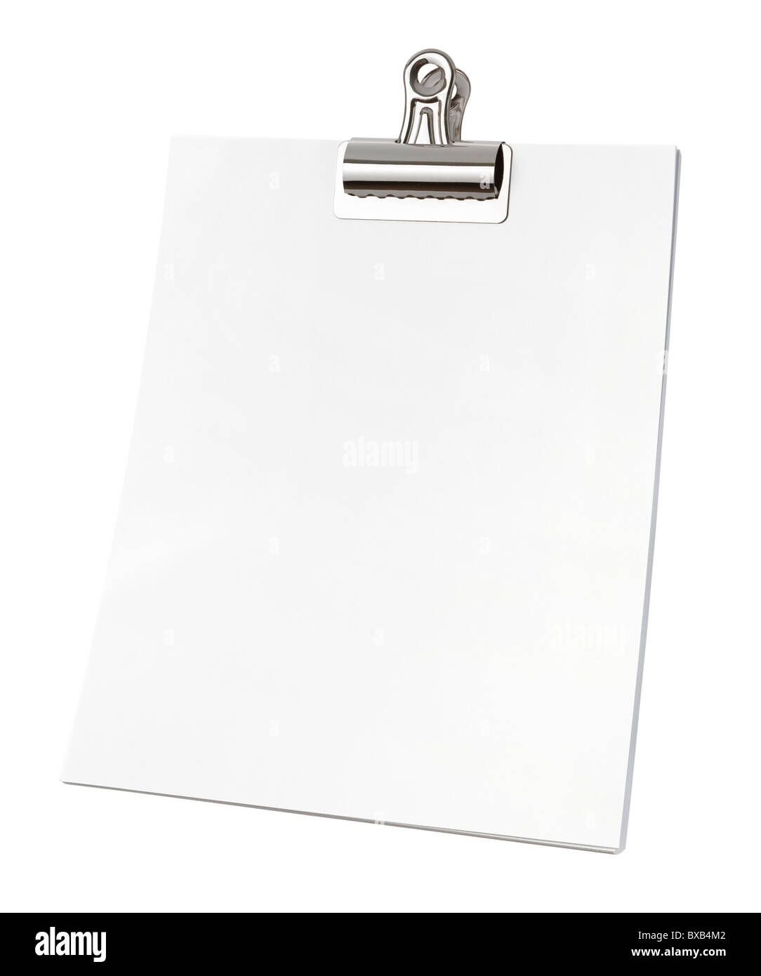 Bull Clip & Paper isolated on a white background. - Stock Image