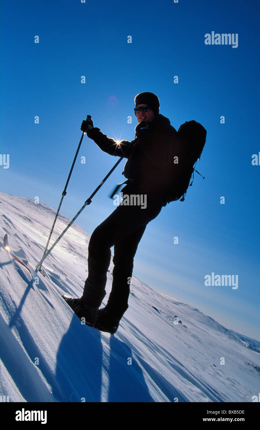 Skier on slope Stock Photo