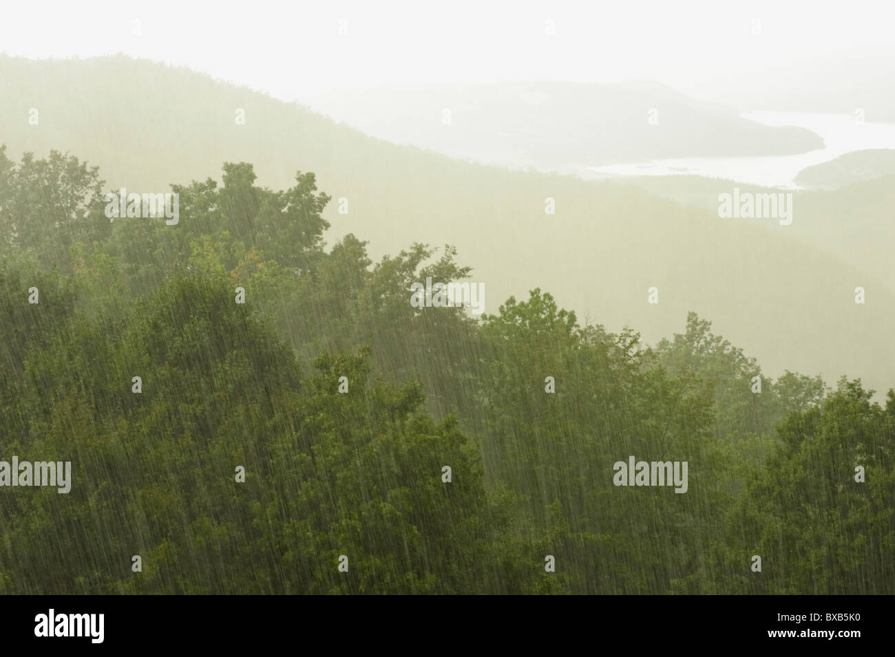Landscape in rainy day - Stock Image