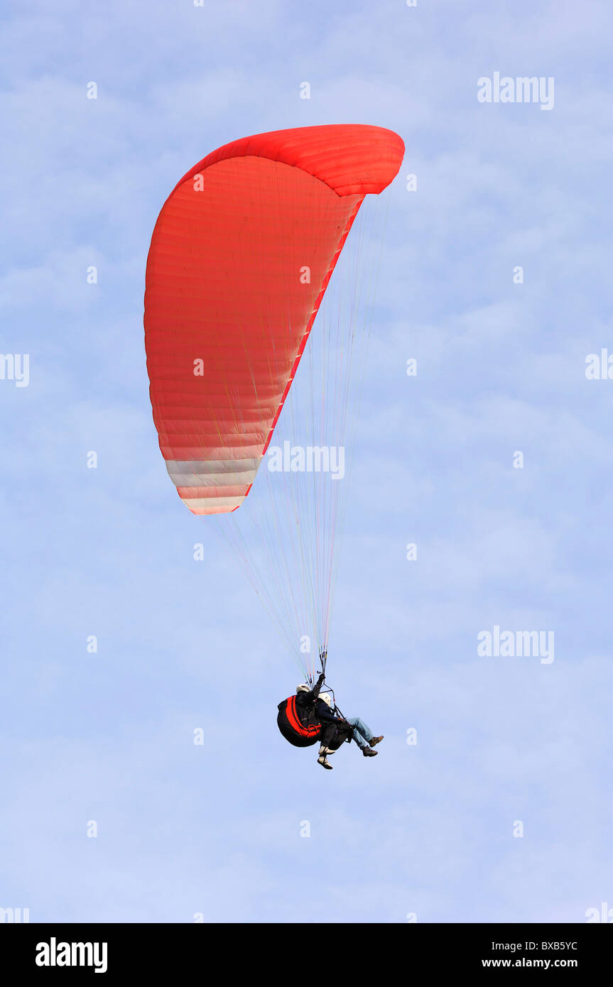 Paraglider, tandem flight - Stock Image