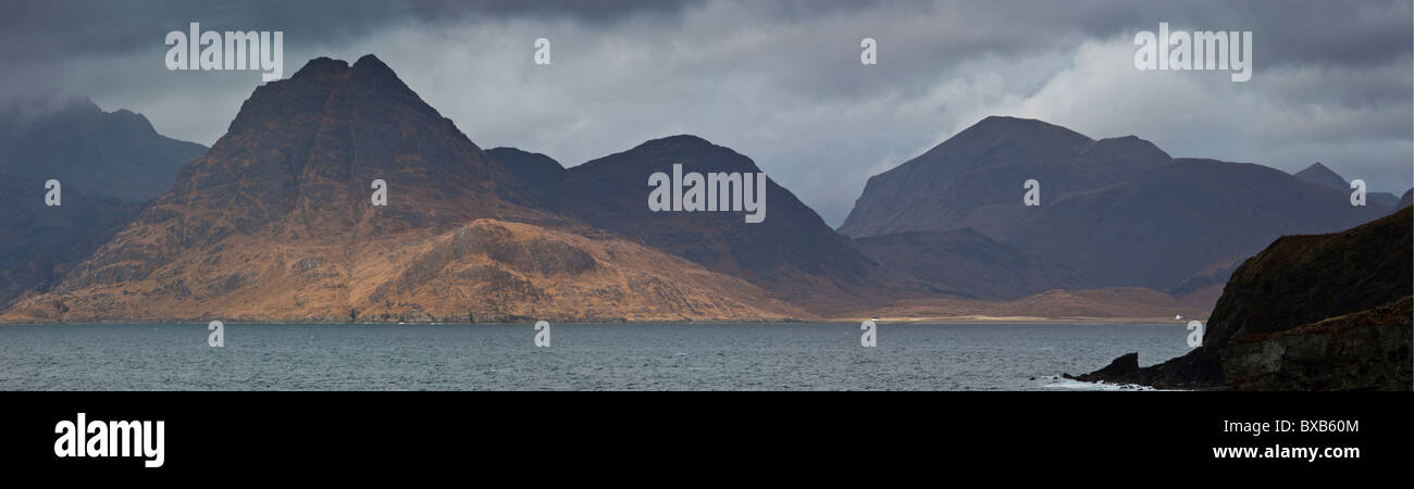 The Southern Arc of The Cuillin Mountains from Elgol, Isle of Skye, Scotland Stock Photo