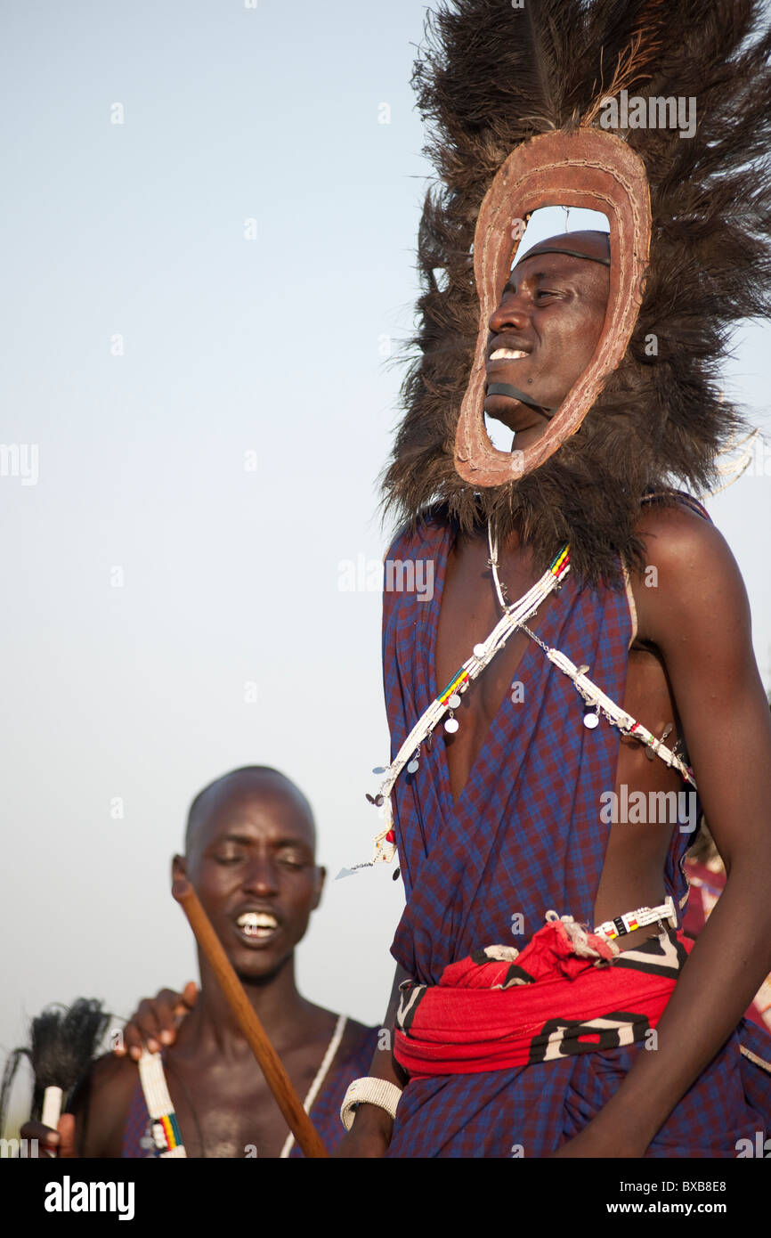 Kenyan tribal dance - Stock Image