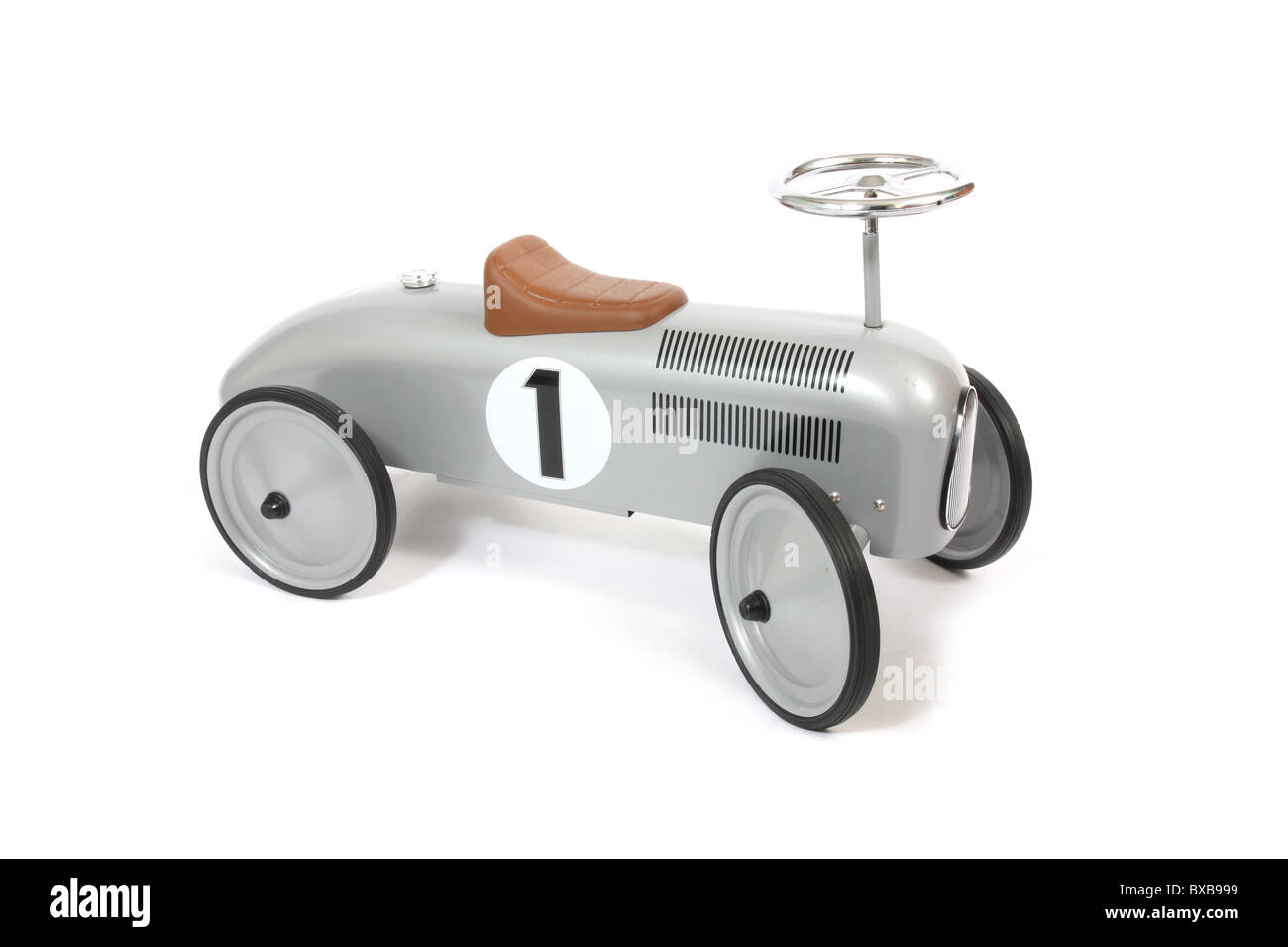 A child's life size toy car. - Stock Image