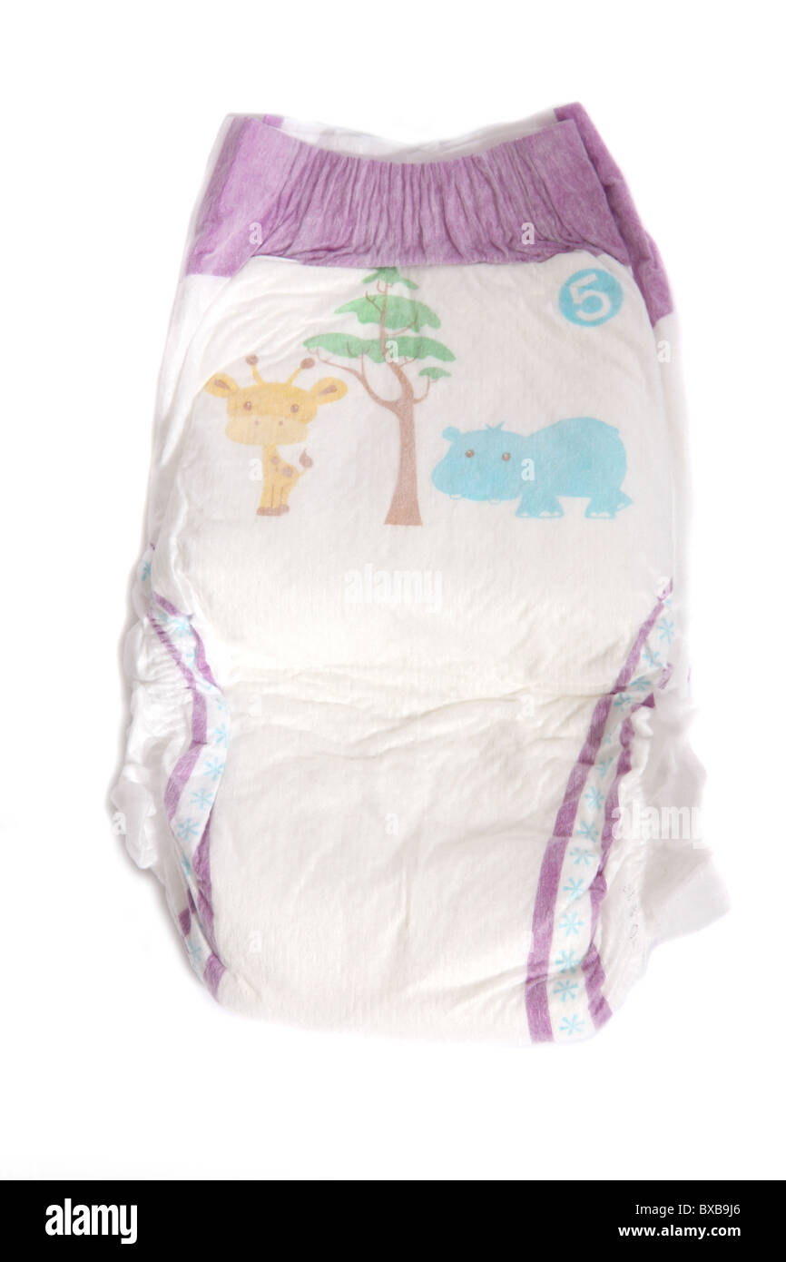 An unused disposable pull up nappy. - Stock Image